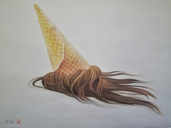 hair object surreal and unsettling drawings of hair design swan