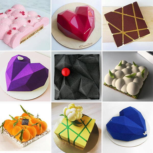 Geometry Inspired Sculpted Cake by Dinara Kasko
