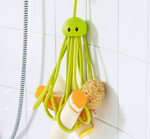 Adorable Octopus Shaped Shower Caddy