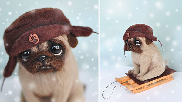 Realistic and Adorable Felted Dogs
