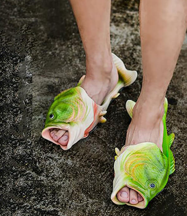 Unusual Hand painted Fish-shape Slippers