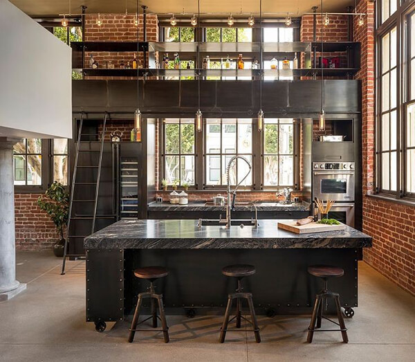 Is industrial style the right choice for your home design swan - Cuisine type industrielle ...