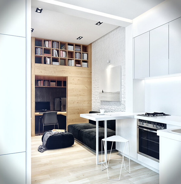Creative Small Apartment Design Located in Odessa