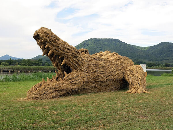 Japan's 10th Annual Rice Straw Sculptures Festival