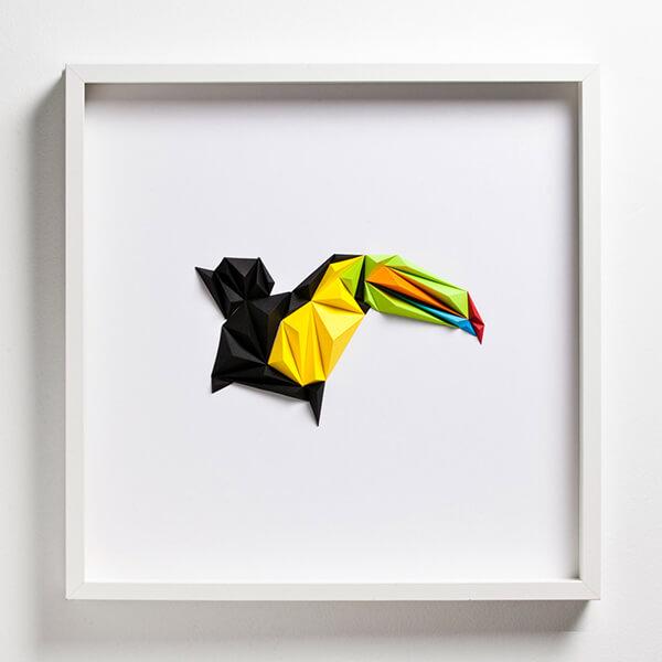 Geometric Paper Bird by Tayfun Tinmaz