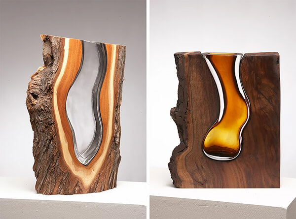 Wood and Glass: When Fallen Trees Meet Hand Blown Glass