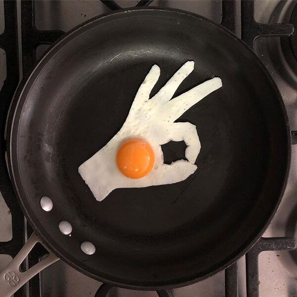 Artistic Breakfast Egg by Michele Baldini