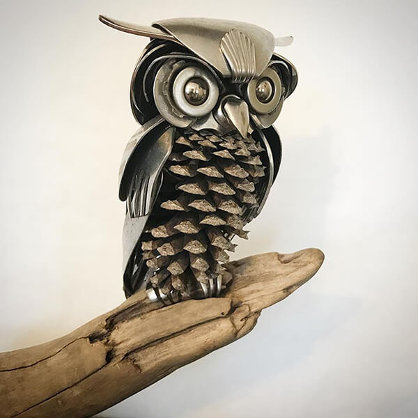 Vivid Bird Sculptures Made out of Unwanted Scrap Meta