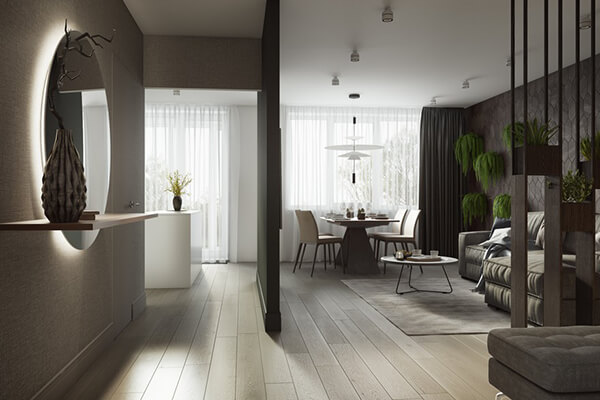 Ozernaya Apartment in Moscow, Russia by Buro 108