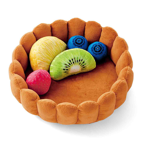 Playful Fruit Tart Cat Bed