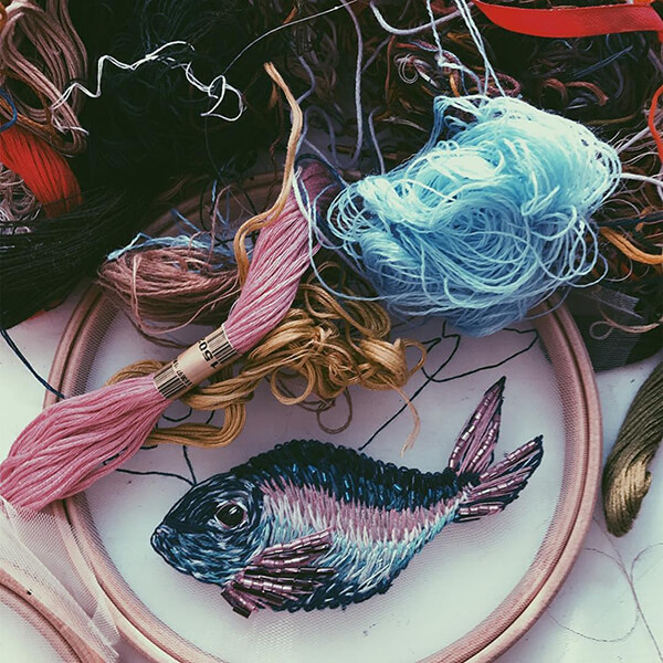 Nature Inspired Mesmerizing Embroidery by Katerina Marchenko