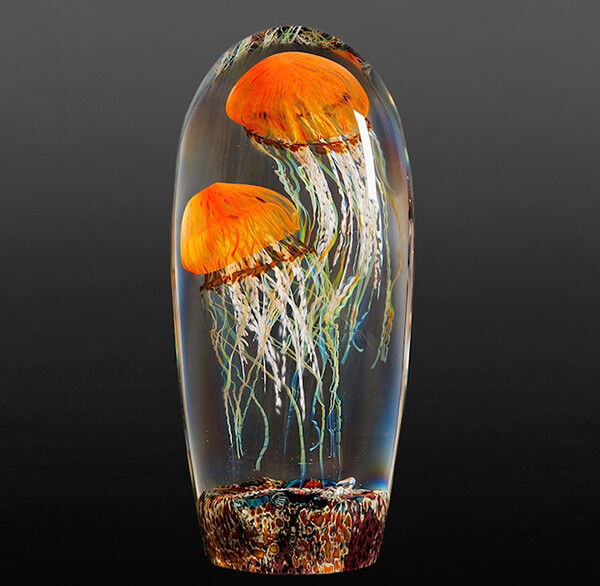 Lifelike Glass Jellyfish Sculptures