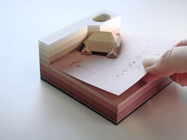 Omoshiro Blocks: Creative Paper Memo With Hidden Object Inside