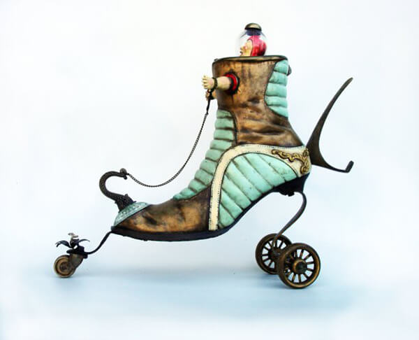 Shoe Sculptures From Otherworld by Costa Magarakis