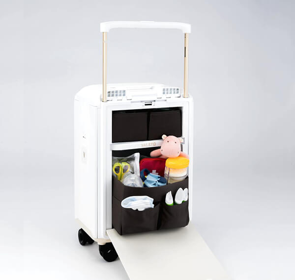 Valeto: A Carry-on Suitcase, A Nappy Bag And High Chair