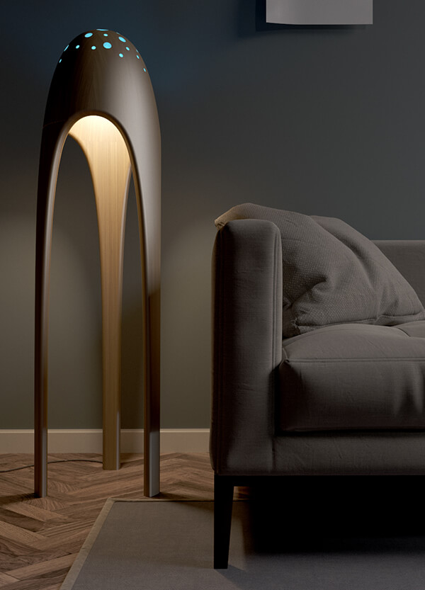 Alien Torchere: Ultra Modern Floor Lamp