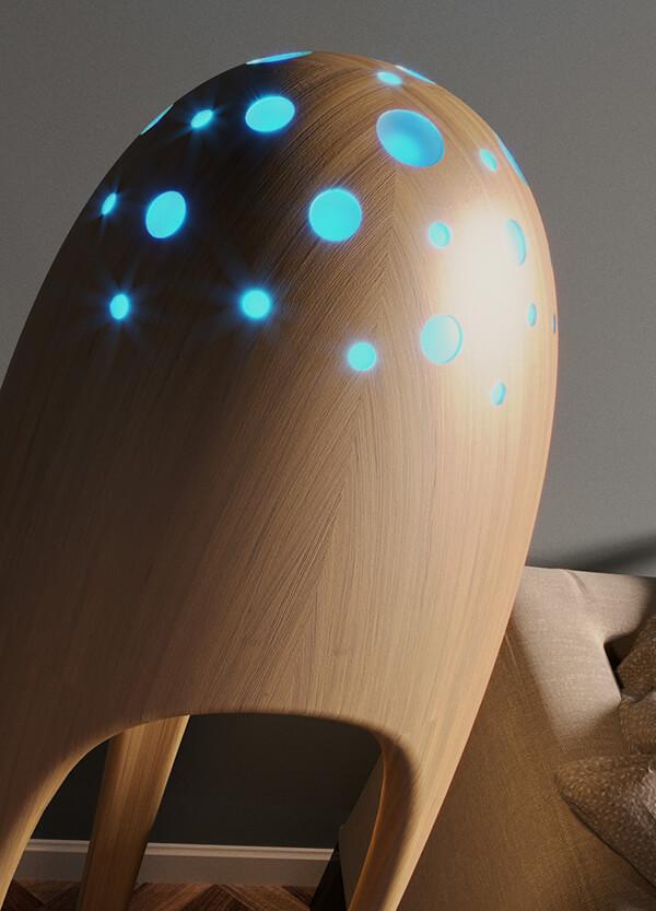 Alien Torchere: Ultra Modern Floor Lamp