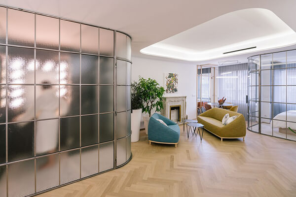 Three Luxury Apartments Divided by One Large Flat in Madrid