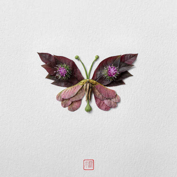 Exotic Butterflies and Moths Made out of Flower Arrangements