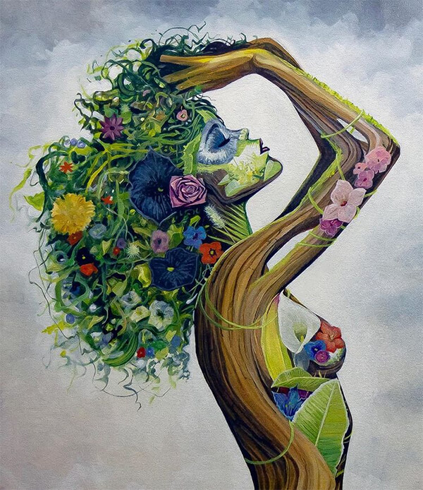Earth: Surreal Portraits of Women Made Out of Nature