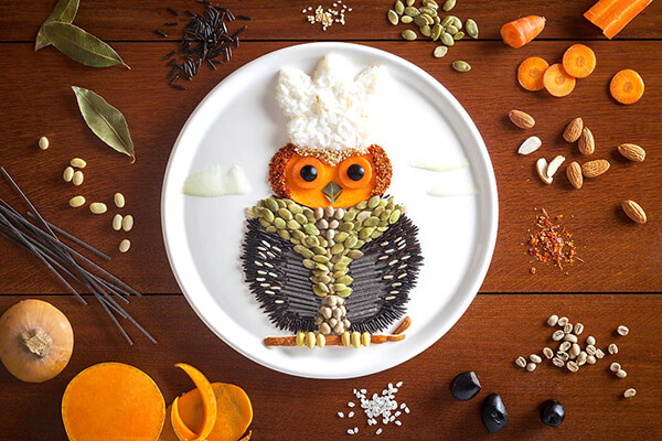 Food Drawing by Anna Keville Joyce