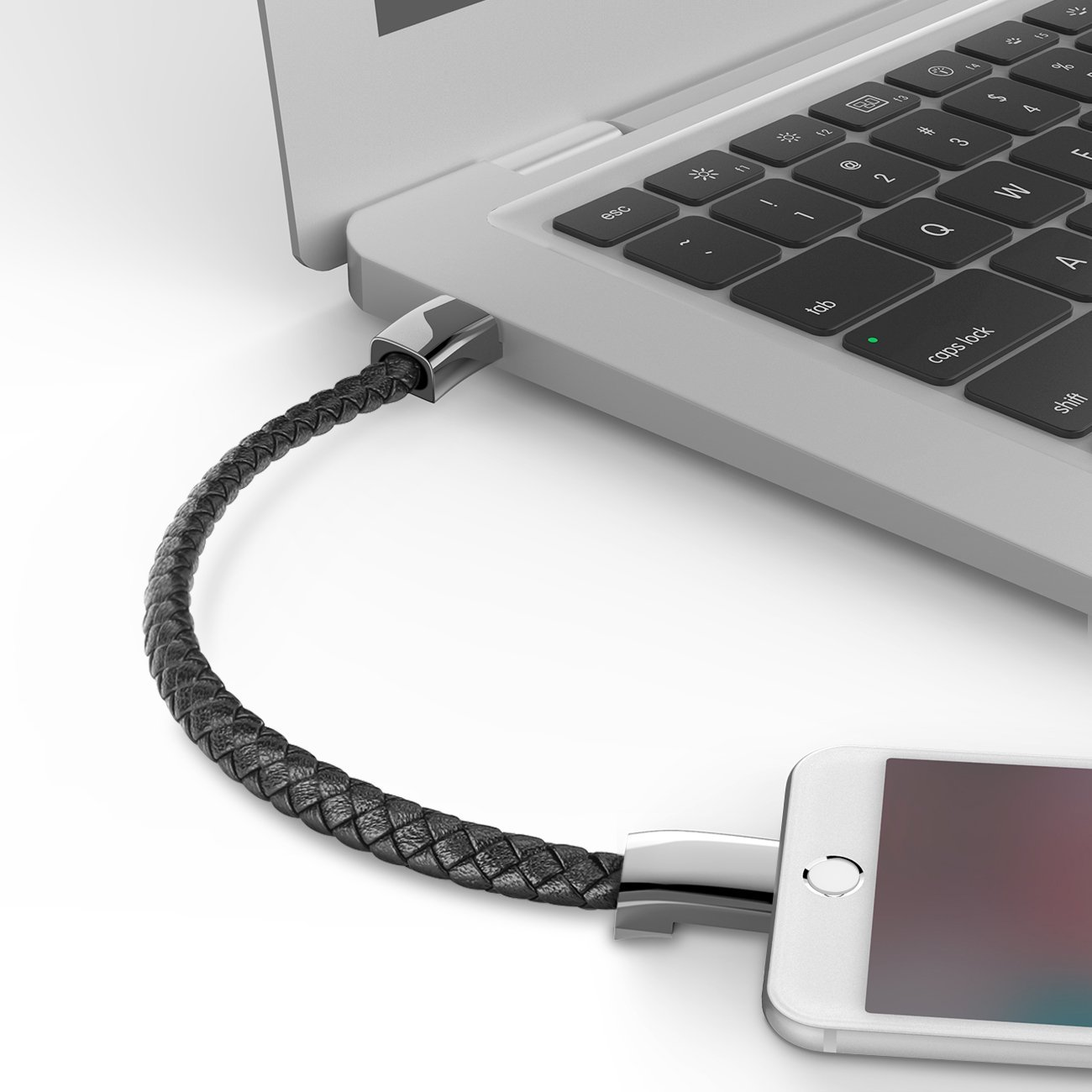 Classic Leather Phone Charging Bracelet