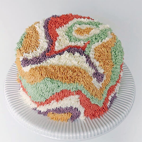 Fuzzy Rug Look-like Buttercream Cake