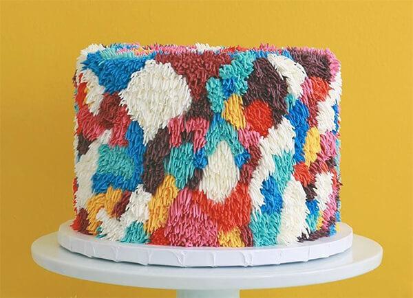 Fuzzy Rug Look-like Buttercream Cake