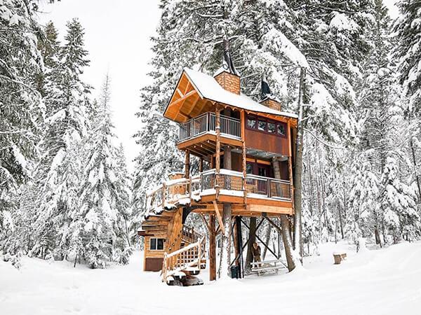 Treehouse Retreat in Montana Besides Whitefish Mountain Ski Resort
