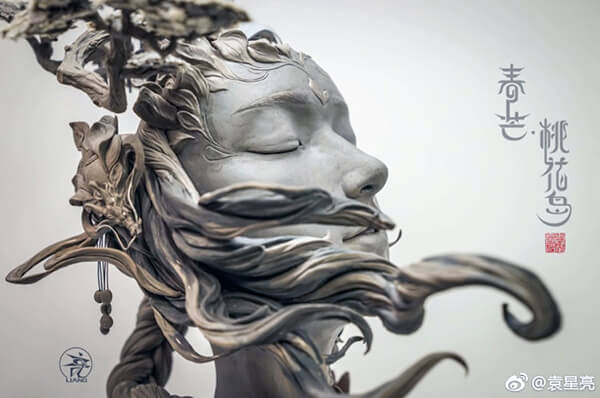 Women's Hair Sculpted as Surreal Landscapes