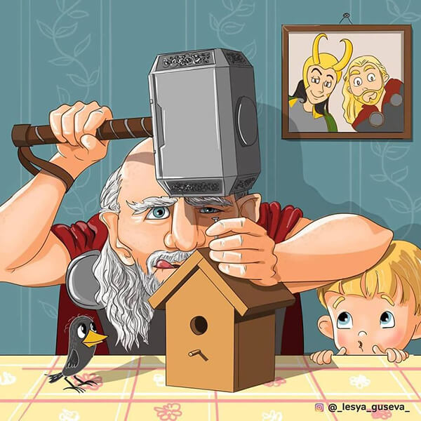What Would Happen If Famous Characters Got Old