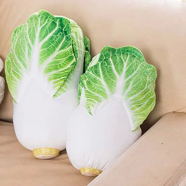 10 Novelty Vegetable and Fruit Inspired Throw Pillow and Cushion Designs