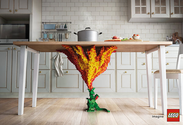 Creative LEGO Advertising Campaigns by Asawin Tejasakulsin