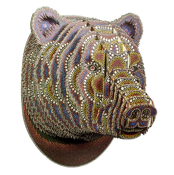 Stunning Cardboard Animal Heads With Intricate Details