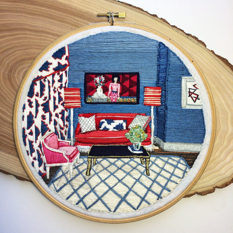 Home-inspired Embroidery Design: Your Miniature Home On Thread