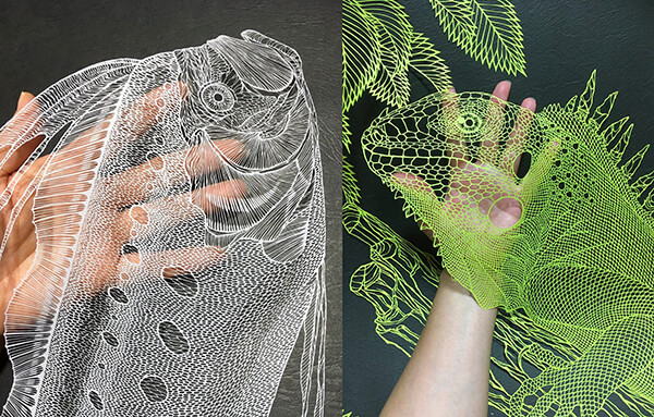 Mindbogglingly Paper Sea Creatures by Riki Fukuda