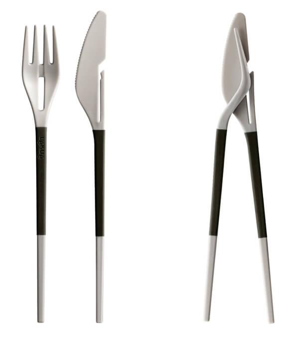 Lekue's Twin One Cutlery Set: A Nice Blend Of Eastern Western Cutlery