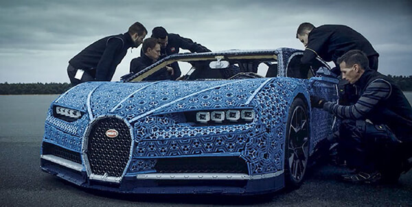 Bugatti Chiron Built Out of 1 Million LEGO Bricks
