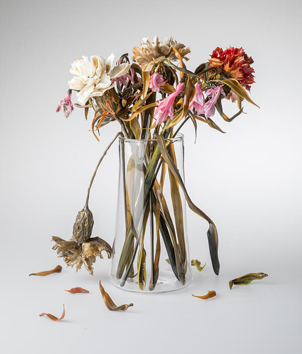 Incredibly Realistic Fresh and Wilting Glass Flowers by Lilla Tabasso