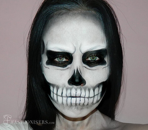 20+ Stunning Skeleton Makeup Designs