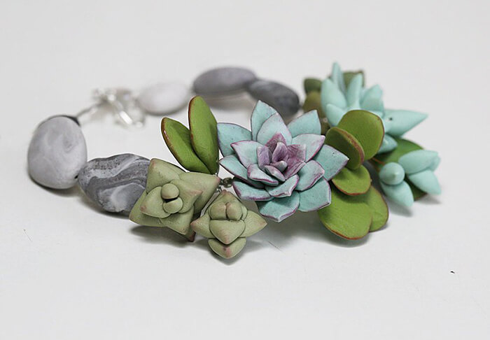 Stylish and Fashionable Polymer Clay Jewelry: a Tiny Wearable Sculpture as a Wonderful Gift