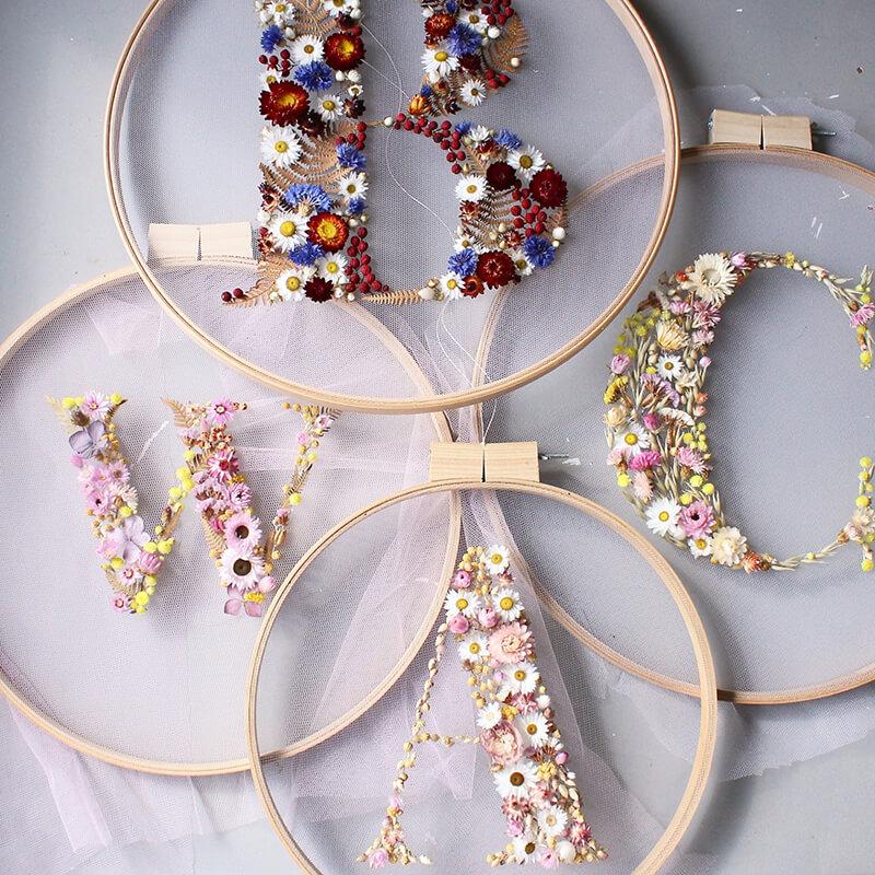 Floral Alphabet Wreaths by Olga Prinku