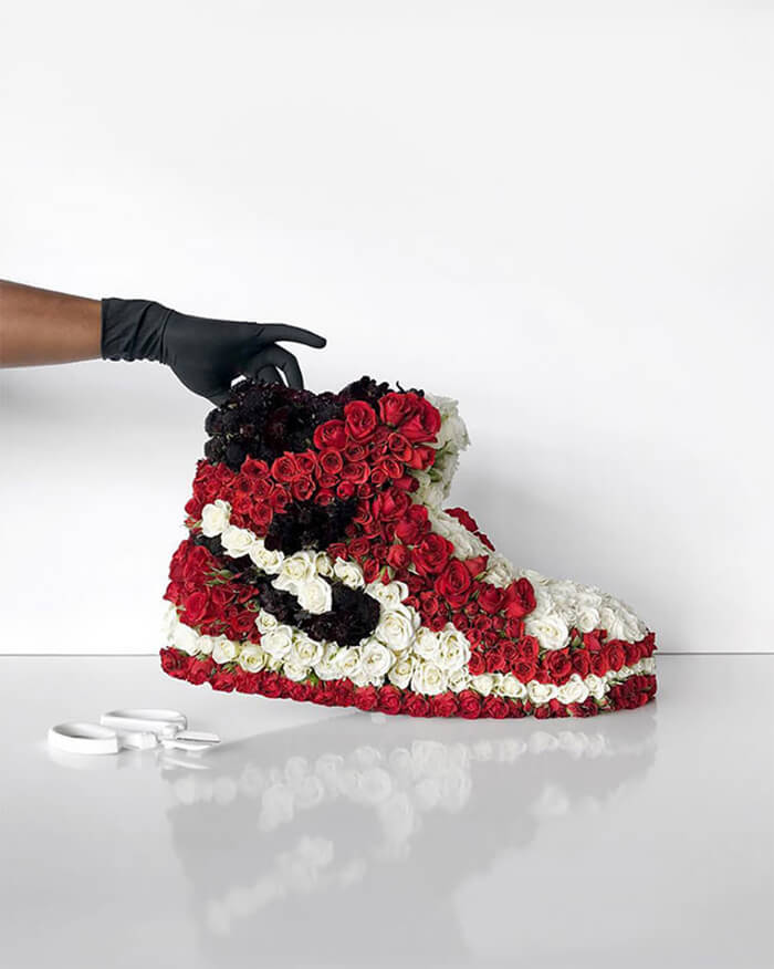 Stunning Footwear Made Out of Flowers