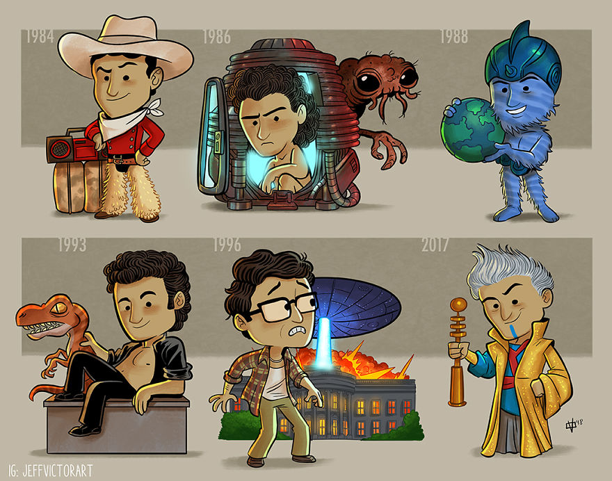 Funny Illustration of the Evolution History of Pop Culture Icons
