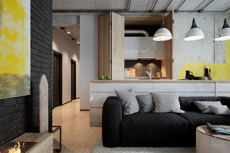 Minimal and Loft Style Home for a Young Family