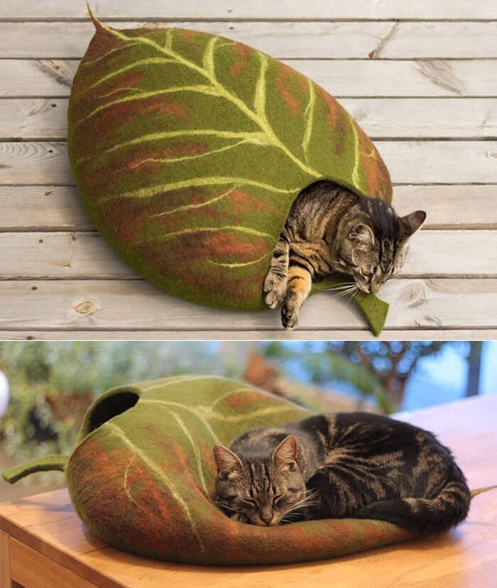 10 Quirky Handmade Felt Cat Beds
