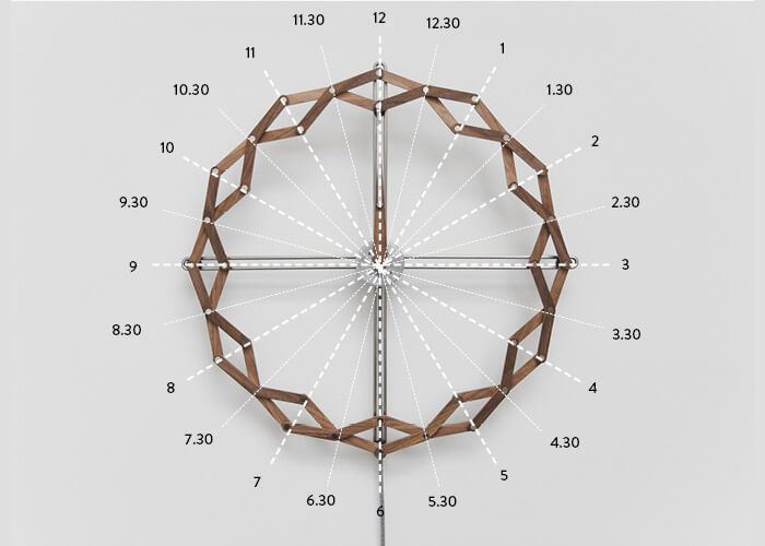 Solstice: The Unique Clock Shows the Passing Time by Shifting Shape