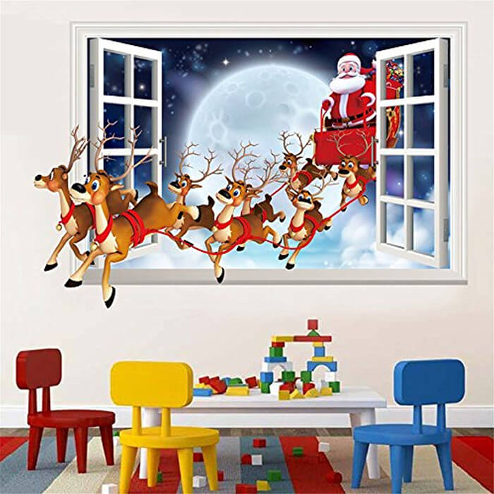 Christmas Window and Wall Decals: A Quick and Effective Way To Apply a Festive Looking