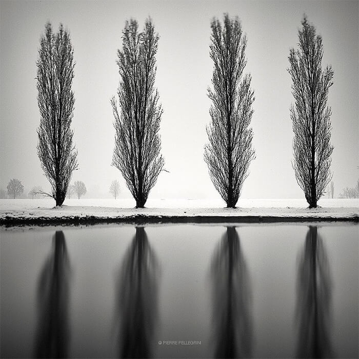 Stunning Black and White Winter Landscape Photography by Pierre Pellegrini