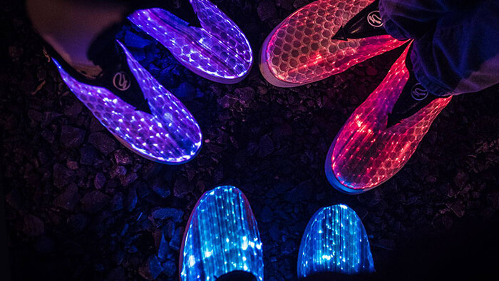 GLOW: the Unique Sneakers With Full Surface LED